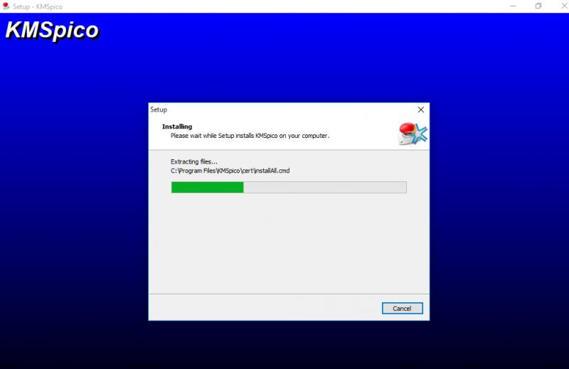 Bạn hãy chờ một chút phần mềm đang tiến hành crack cho office 2013