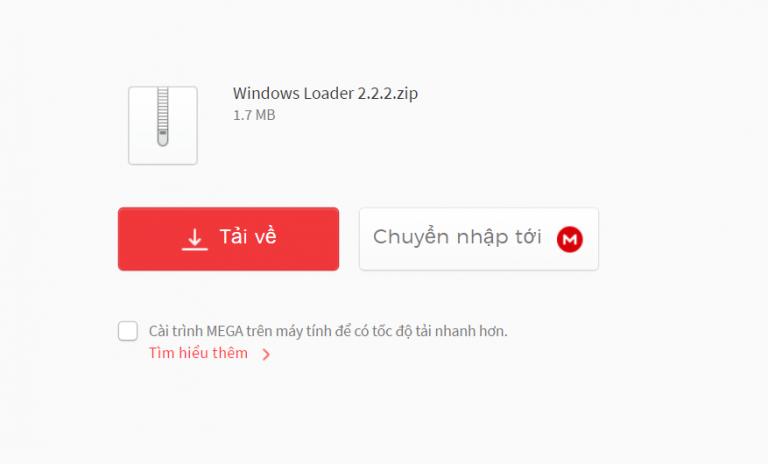 Tải phầm mềm Windows Loader v2.2.2