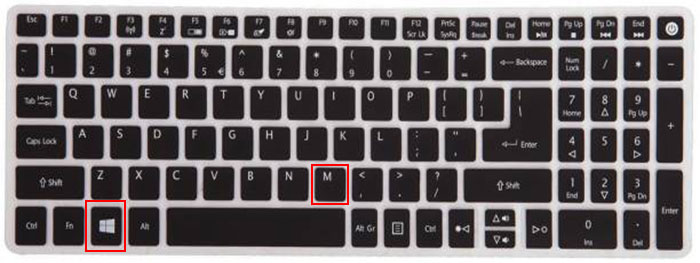 phím tắt trên windows - windows m