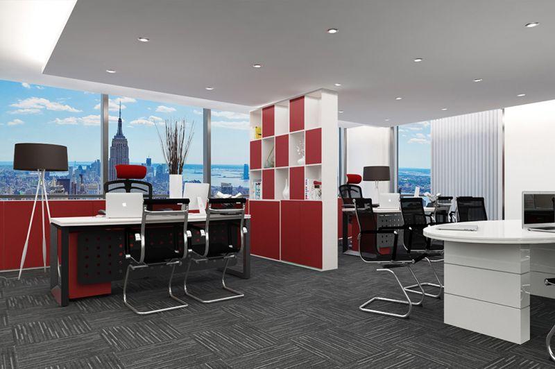 Thiết kế văn phòng tông đỏ rực của công ty Marubeni Việt Nam